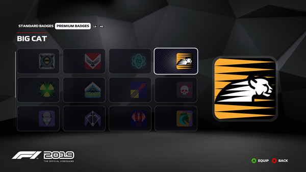 Скриншот №1 к F1 2019 Badge Big Cat