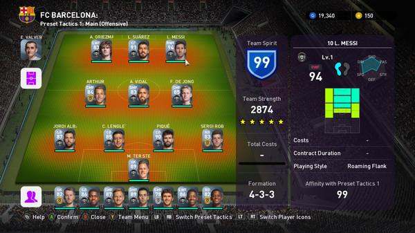 Скриншот №1 к eFootball  PES 2020 - myClub FC BARCELONA Squad
