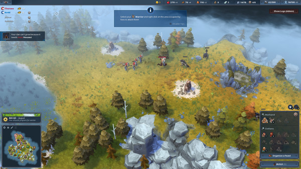 Скриншот №4 к Northgard - Himminbrjotir Clan of the Ox