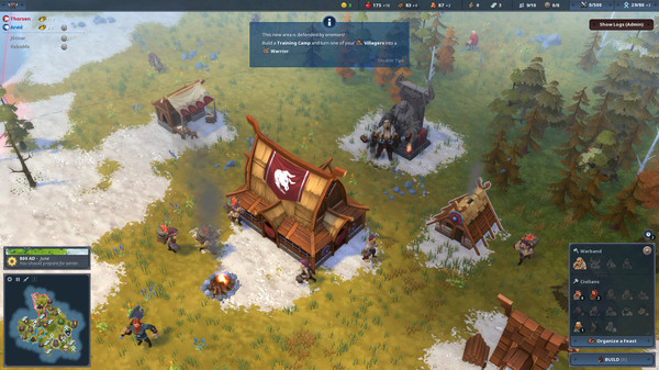 Скриншот №2 к Northgard - Himminbrjotir Clan of the Ox