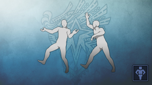 Скриншот №1 к Monster Hunter World - Набор жестов MHWI Заводной танец