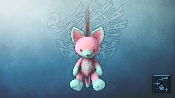 Скриншот №1 к Monster Hunter World Iceborne - Кулон розовый плюшевый котт