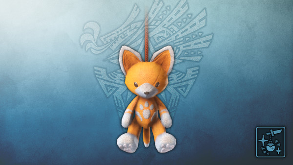 Скриншот №1 к Monster Hunter World Iceborne - Кулон оранжевый плюшевый котт