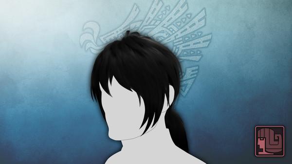 Скриншот №1 к Monster Hunter World Iceborne - Прическа странствующий самурай