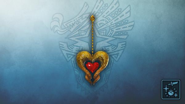 Скриншот №1 к Monster Hunter World Iceborne - Кулон рубиновое сердце кулве