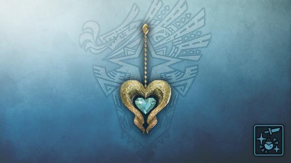Скриншот №1 к Monster Hunter World Iceborne - Кулон сапфировое сердце кулве