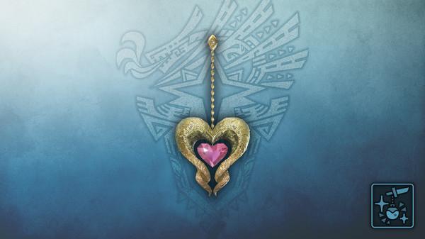 Скриншот №1 к Monster Hunter World Iceborne - Кулон сердце кулве из самоцв. роз