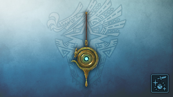 Скриншот №1 к Monster Hunter World Iceborne - Кулон золотой небесный дракон