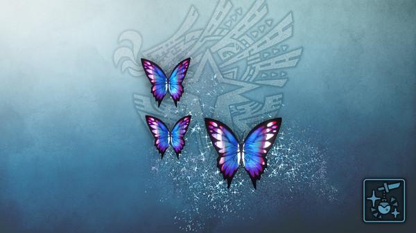 Скриншот №1 к Monster Hunter World Iceborne - Кулон призрачные лазурные бабочки