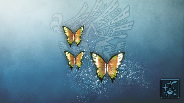 Скриншот №1 к Monster Hunter World Iceborne - Кулон призрачные нефритовые бабочки