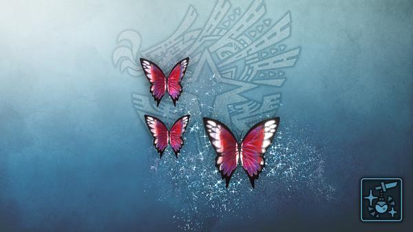 Скриншот №1 к Monster Hunter World Iceborne - Кулон призрачные пурпурные бабочки