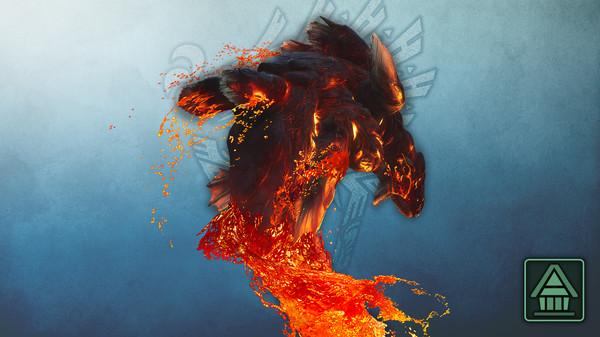 Скриншот №1 к Monster Hunter World Iceborne - Фигурка чудовища MHWI лавасиот