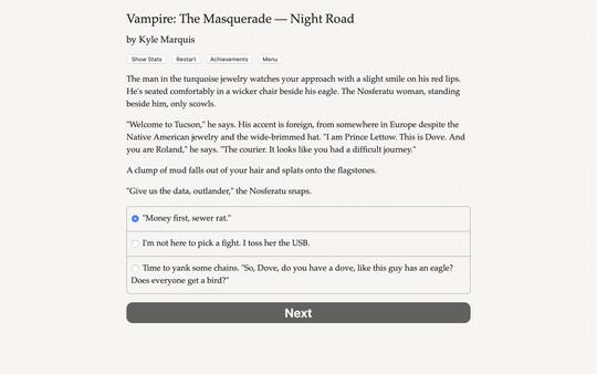 Vampire: The Masquerade — Night Road screenshot