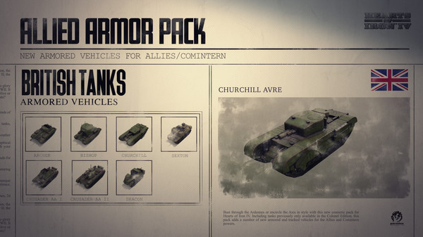 Скриншот №3 к Hearts of Iron IV Allied Armor Pack