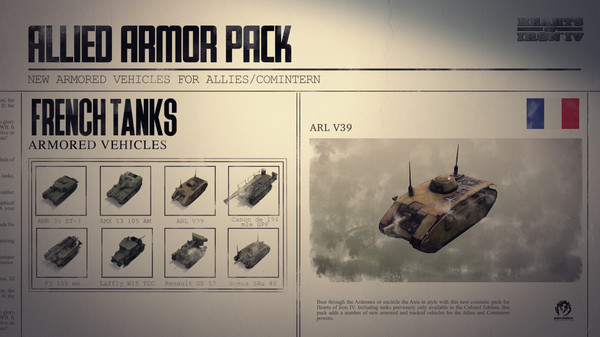Скриншот №1 к Hearts of Iron IV Allied Armor Pack