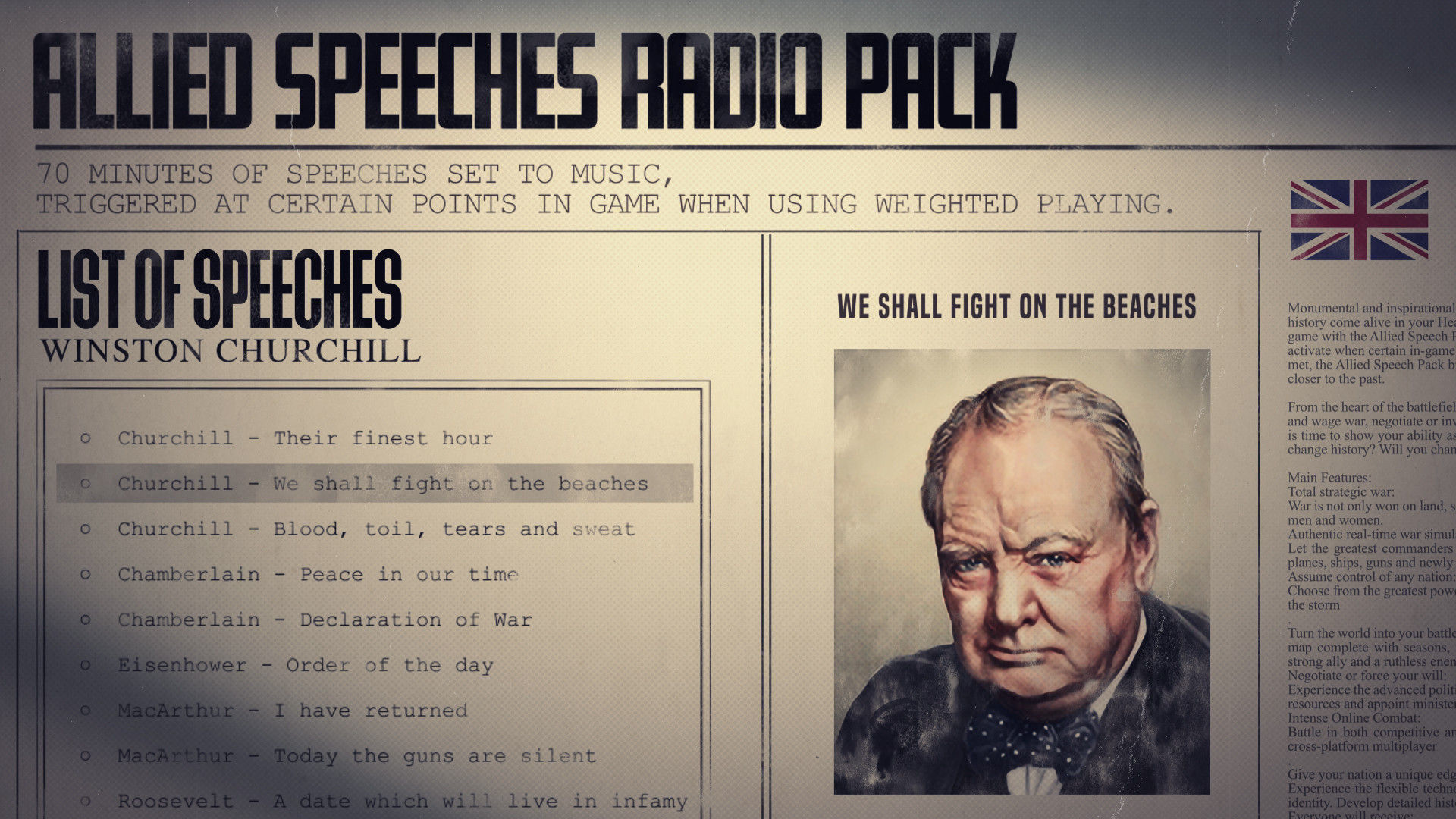 Hearts of Iron IV: Allied Speeches Music Pack