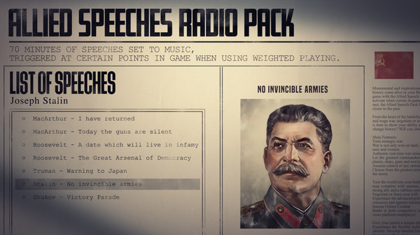 Скриншот №6 к Hearts of Iron IV Allied Speeches Music Pack