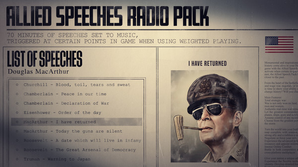 Скриншот №4 к Hearts of Iron IV Allied Speeches Music Pack