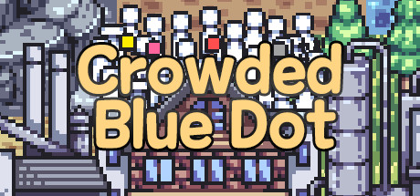 Crowded Blue Dot
