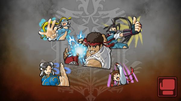 Скриншот №1 к Monster Hunter World - Набор стикеров Street Fighter V