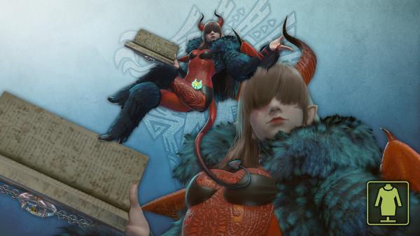 Скриншот №1 к Monster Hunter World - Костюм проводника Милая дьяволица