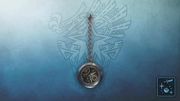 Скриншот №1 к Monster Hunter World Iceborne - Кулон механические серебряные часы