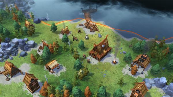 Скриншот №1 к Northgard - Brundr  Kaelinn Clan of the Lynx