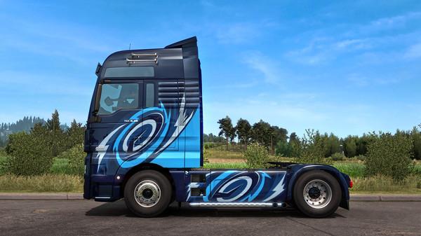 Скриншот №4 к Euro Truck Simulator 2 - Super Stripes Paint Jobs Pack