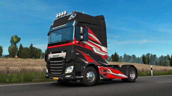 Скриншот №1 к Euro Truck Simulator 2 - Super Stripes Paint Jobs Pack