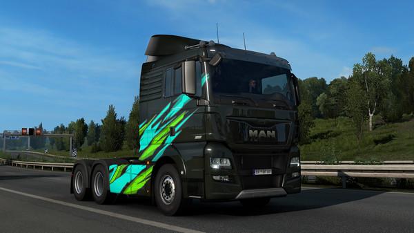 Скриншот №5 к Euro Truck Simulator 2 - Super Stripes Paint Jobs Pack