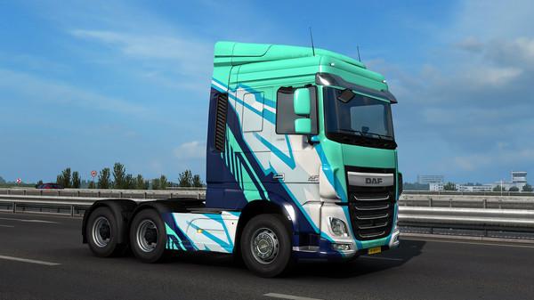 Скриншот №3 к Euro Truck Simulator 2 - Super Stripes Paint Jobs Pack