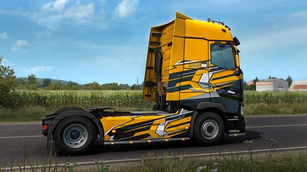 Скриншот №2 к Euro Truck Simulator 2 - Super Stripes Paint Jobs Pack