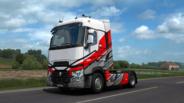 Скриншот №6 к Euro Truck Simulator 2 - Super Stripes Paint Jobs Pack