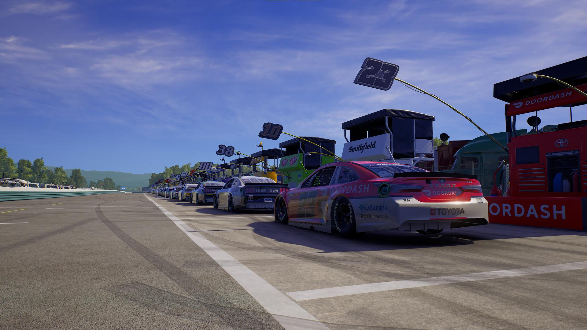 NASCAR 21: Ignition screenshot of gameplay.