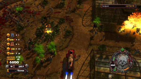 скриншот Zombie Driver HD Burning Garden of Slaughter 3