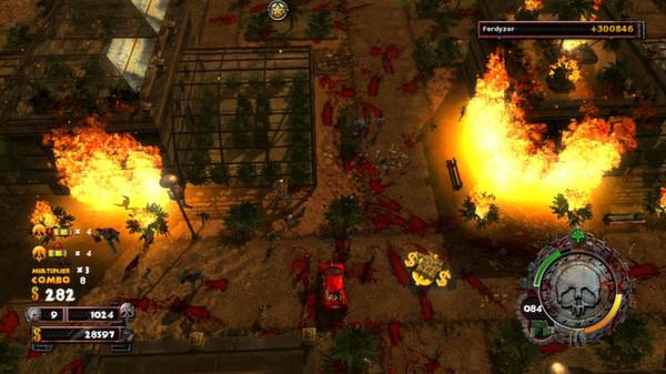 скриншот Zombie Driver HD Burning Garden of Slaughter 1