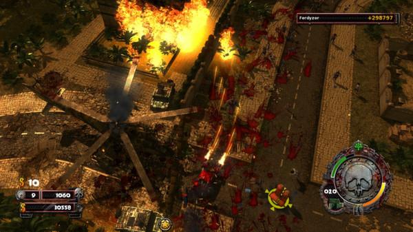 скриншот Zombie Driver HD Burning Garden of Slaughter 4