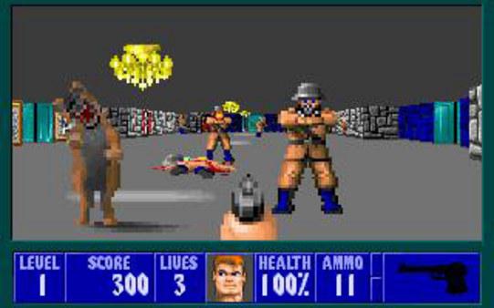 Скриншот №1 к Wolfenstein 3D