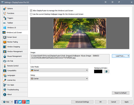 Скриншот №14 к DisplayFusion