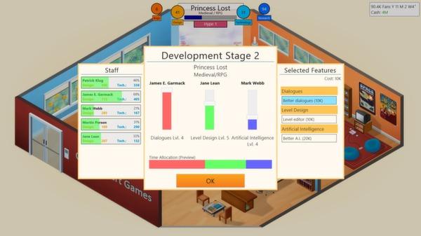 скриншот Game Dev Tycoon 3