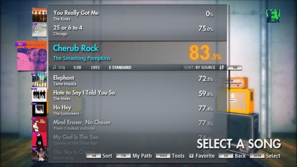 "Скриншот №1 к Rocksmith® 2014 - The Smashing Pumpkins  - ""Cherub Rock"""