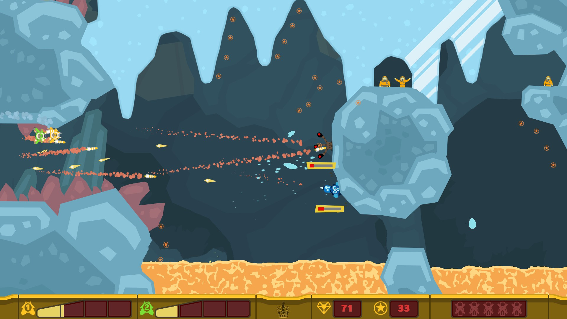 PixelJunk Shooter screenshot 1