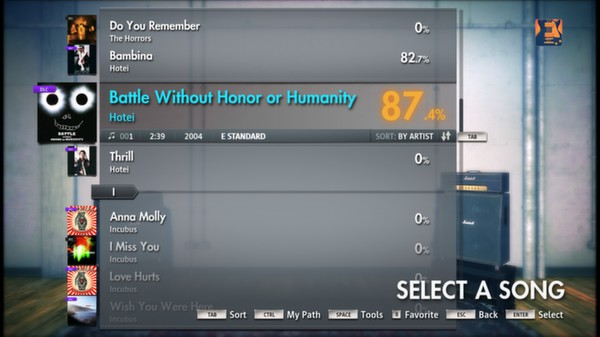 "Скриншот №5 к Rocksmith® 2014 – Hotei - ""Battle Without Honor or Humanity"""