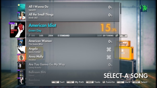 "Скриншот №1 к Rocksmith® 2014 – Green Day - ""American Idiot"""