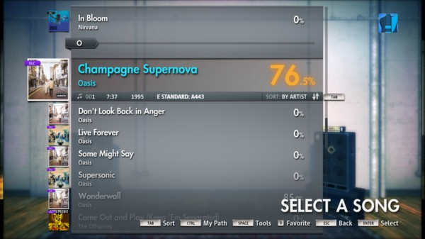 Скриншот №12 к Rocksmith® 2014 – Oasis Song Pack