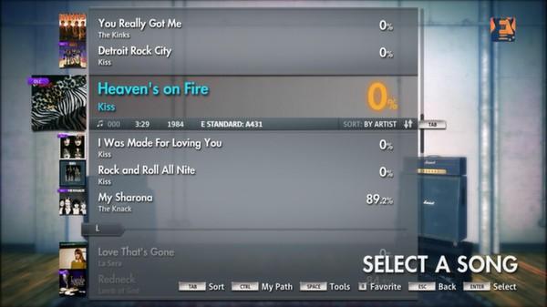 "Скриншот №1 к Rocksmith® 2014 – Kiss - ""Heavens On Fire"""
