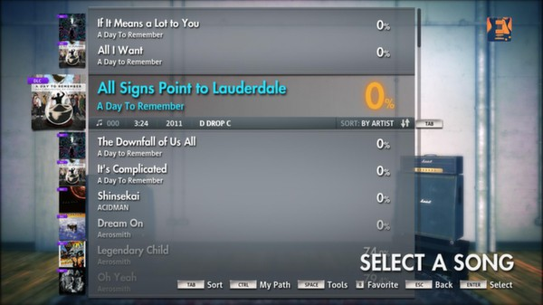 """Скриншот №4 к Rocksmith® 2014 – A Day To Remember - """"All Signs Point to Lauderdale"""""""