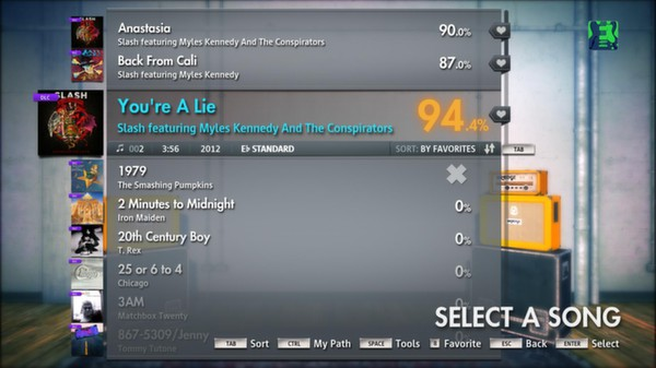 """Скриншот №2 к Rocksmith® 2014 – Slash featuring Myles Kennedy and The Conspirators - """"Youre a Lie"""""""