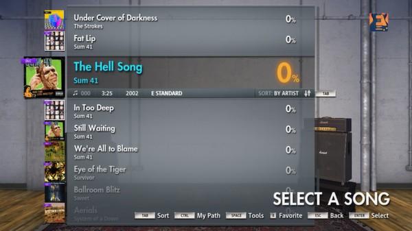 "Скриншот №1 к Rocksmith® 2014 – Sum 41 - ""The Hell Song"""