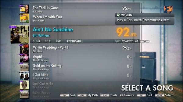 "Скриншот №5 к Rocksmith® 2014 – Bill Withers - ""Aint No Sunshine"""